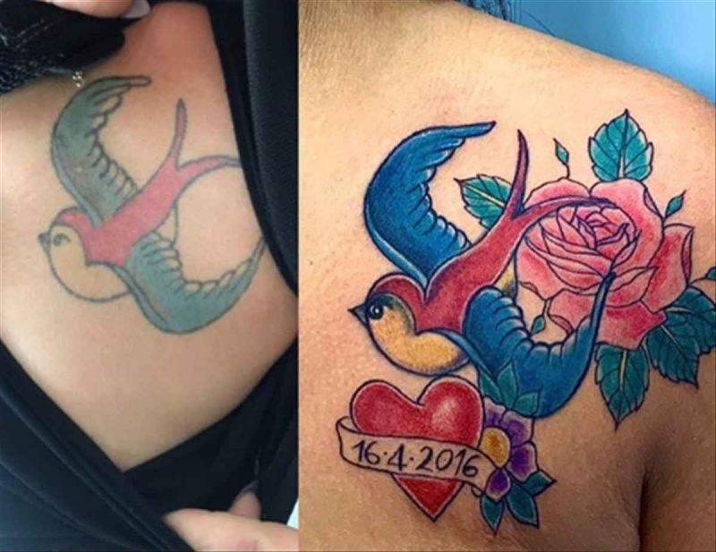 restyling tattoo aggiunta