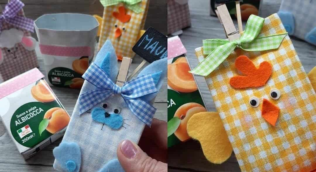 Pasqua fai da te | scatoline porta ovetti con tetrapak