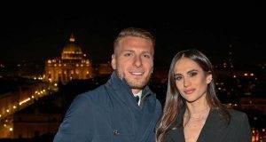 Ciro Immobile e Jessica Melena, complici e innamorati per la festa di lei (Getty Images)