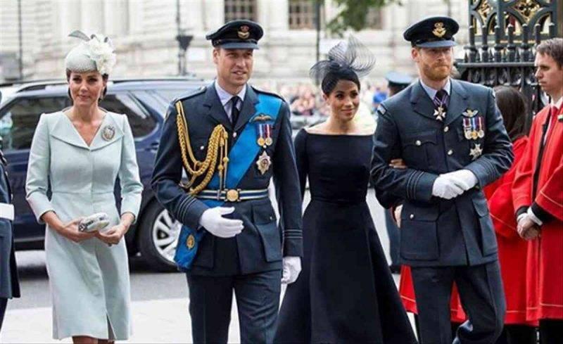 Kate, William, Harry e Meghan d'Inghilterra
