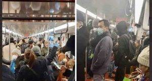 metropolitana milano folla