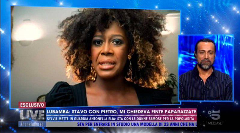 Live Non è la d'Urso, Sylvie Lubamba e Pietro Delle Piane