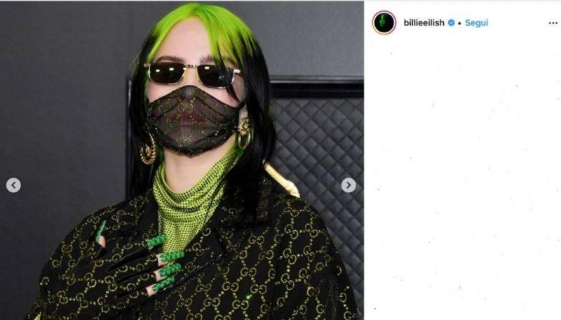 Billie Eilish ricrescita capelli