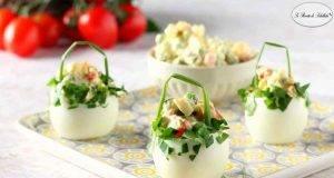 Ricetta pasquale   cestini di uova sode