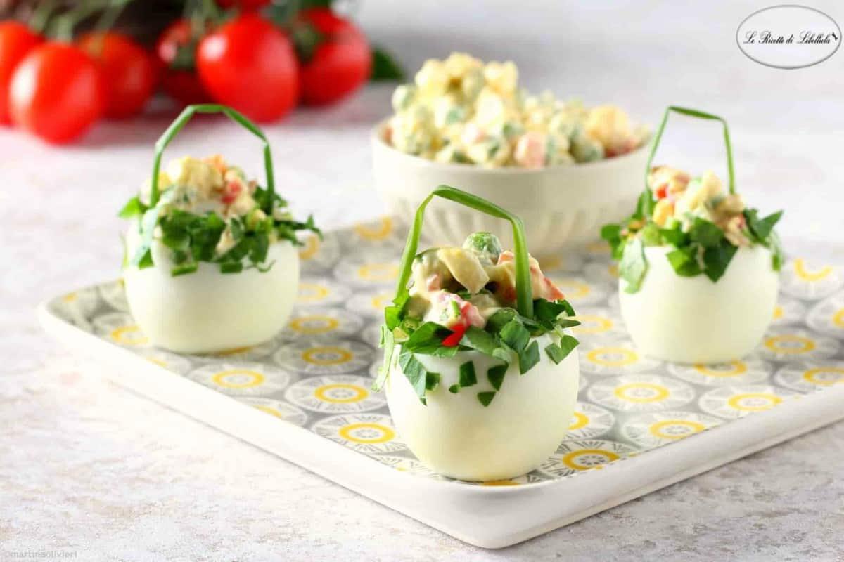 Ricetta pasquale | cestini di uova sode