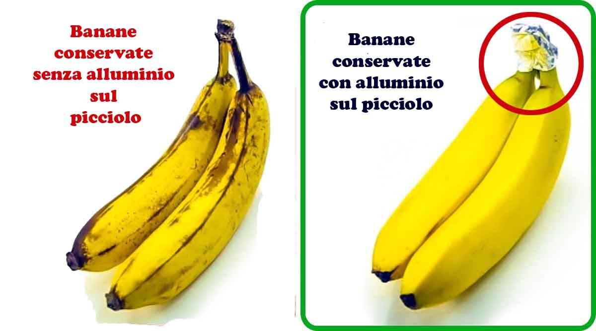 trucchi conservare banane