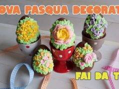 Pasqua fai da te   uova di cioccolato decorate a mano -VIDEO-