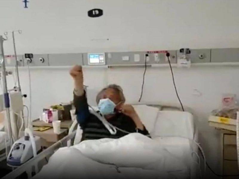 Uomo guarito dal coronavirus