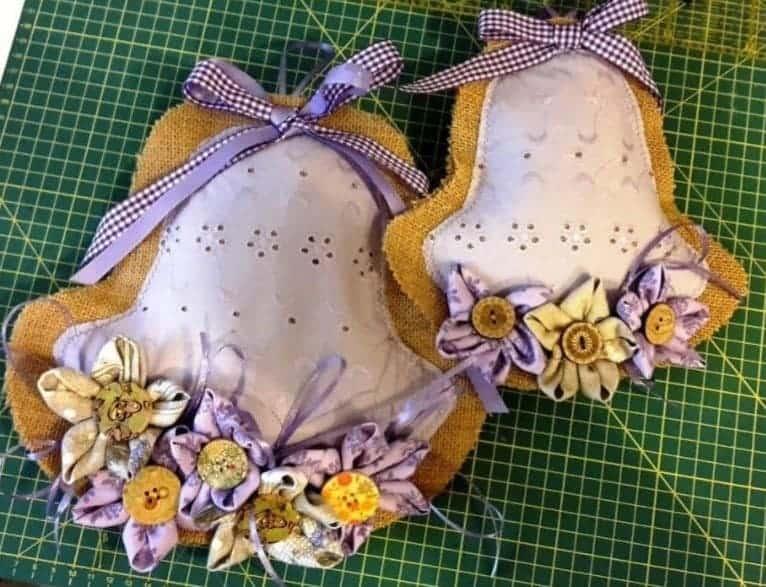 Pasqua cucito creativo campana in tessuto