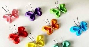 farfalle di carta bellissime e semplici