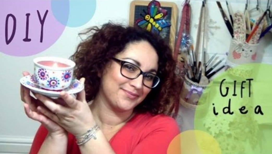 Candele in tazza per la festa della mamma
