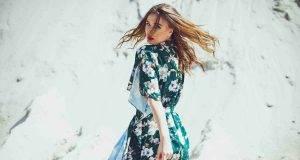 vestito lungo fiori