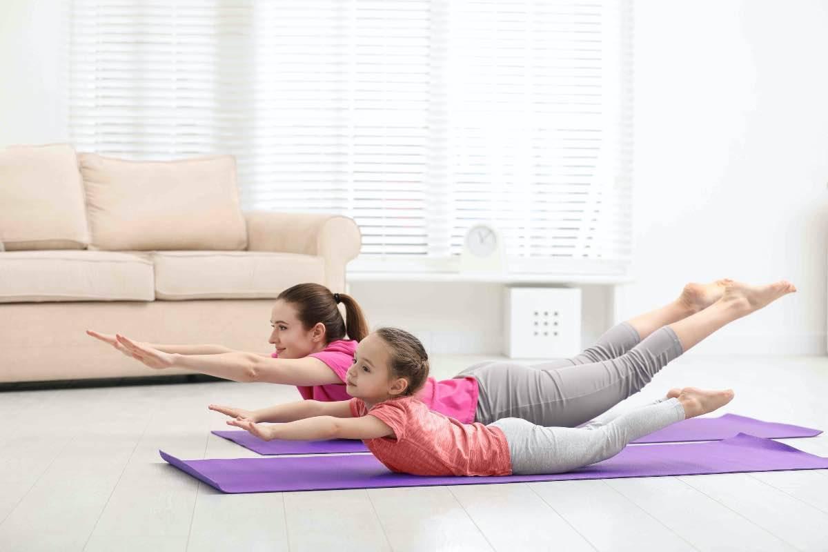allenamento madre figlia