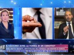 Barbara d'Urso con l'infettivologo Bassetti
