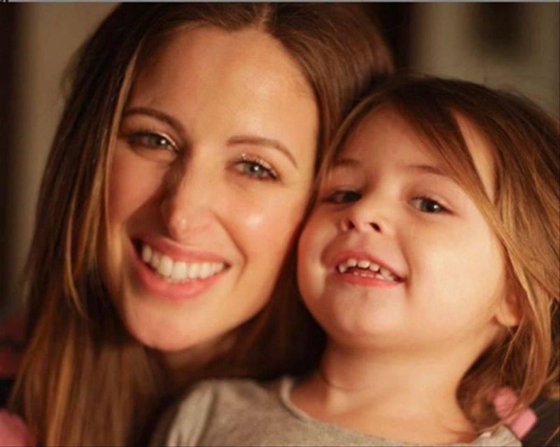 Clio Zammatteo con la prima figlia Grace