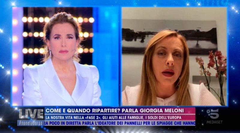 Giorgia Meloni a Live Non è la d'Urso