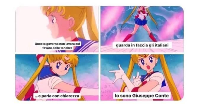 Meme Giuseppe Conte Sailor Moon
