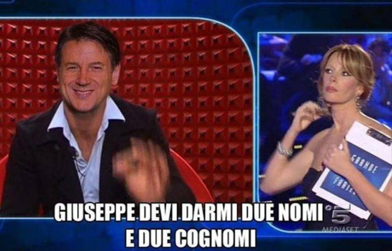 Meme Giuseppe Conte Grande Fratello