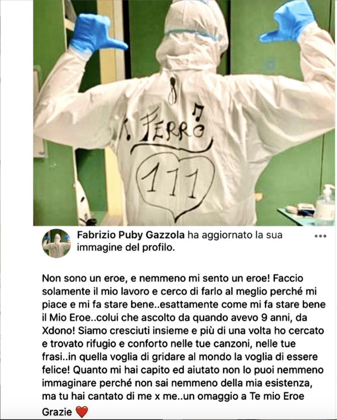 Tiziano Ferro eroe