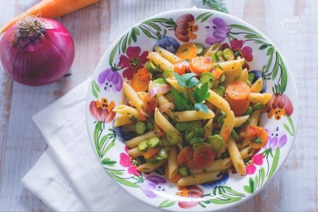 Pennette Primavera primo piatto gustoso e colorato