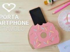 Porta smartphone da tavolo a forma di donut