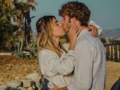 Clizia e Paolo bacio