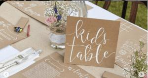 tavolo dei bambini