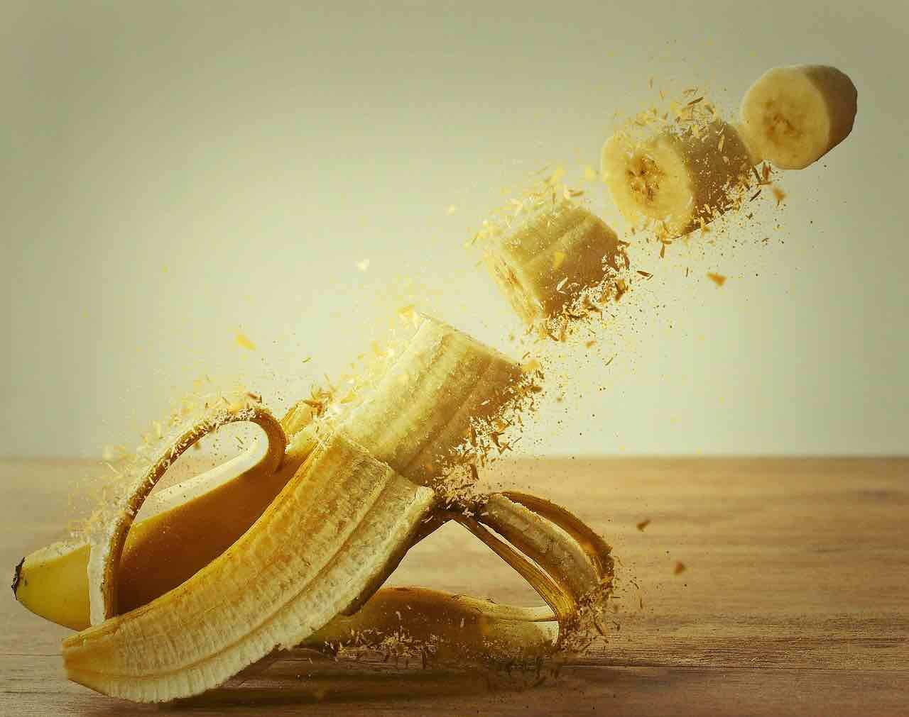 pulire banana
