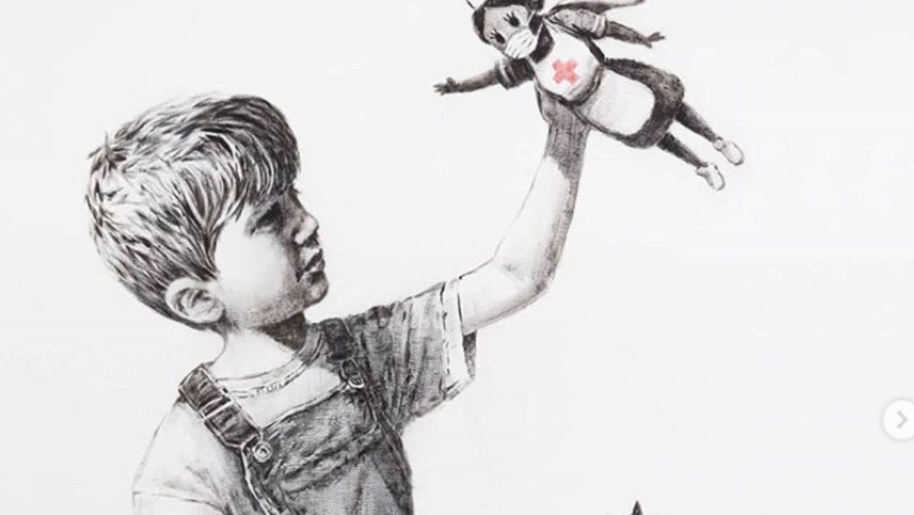 Banksy omaggia medici e infermieri | I nuovi supereroi