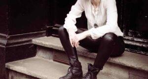 pantaloni pelle neri
