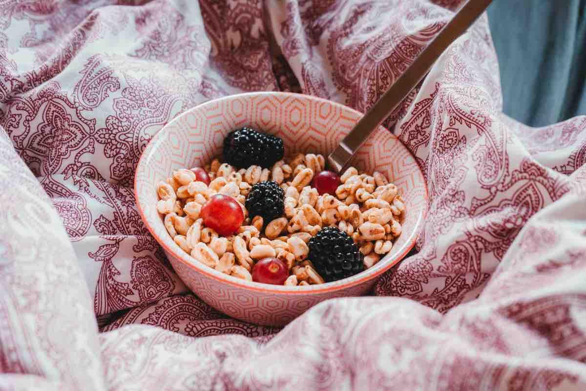 cereali e frutta
