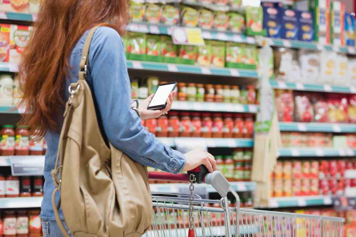 smartphone supermercato