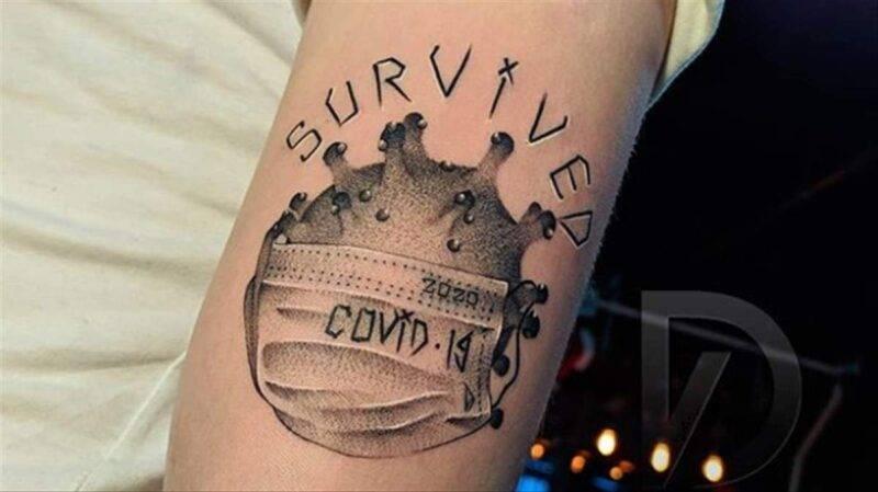 sopravvissuto coronavirus tattoo
