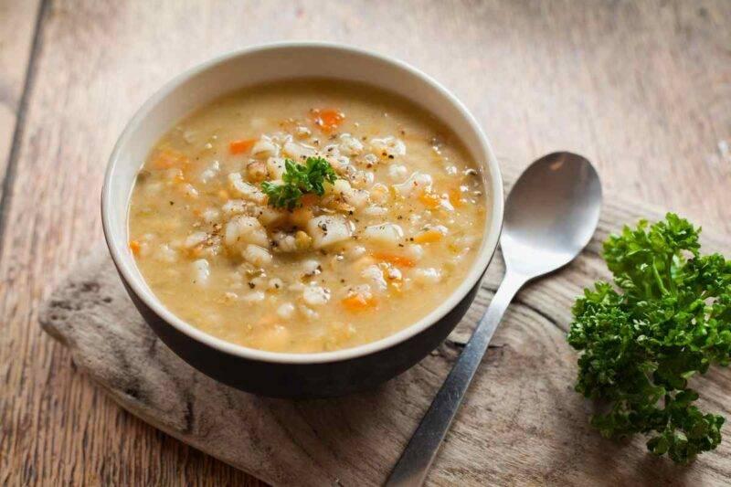 zuppa cereali e verdure