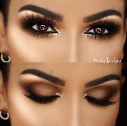 smokey eye marrone