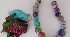 riciclo creativo collana con avanzi di tessuto