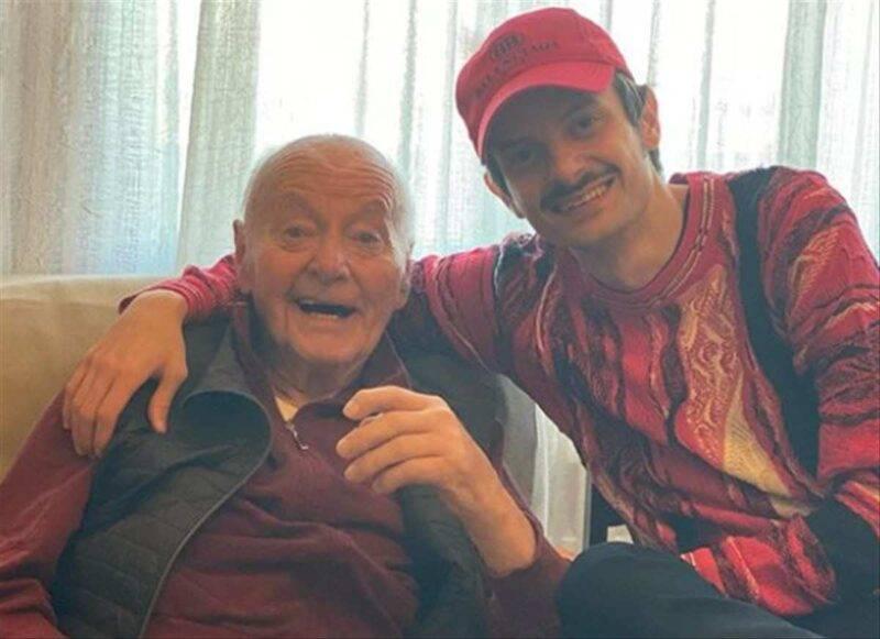 Fabio Rovazzi con il nonno
