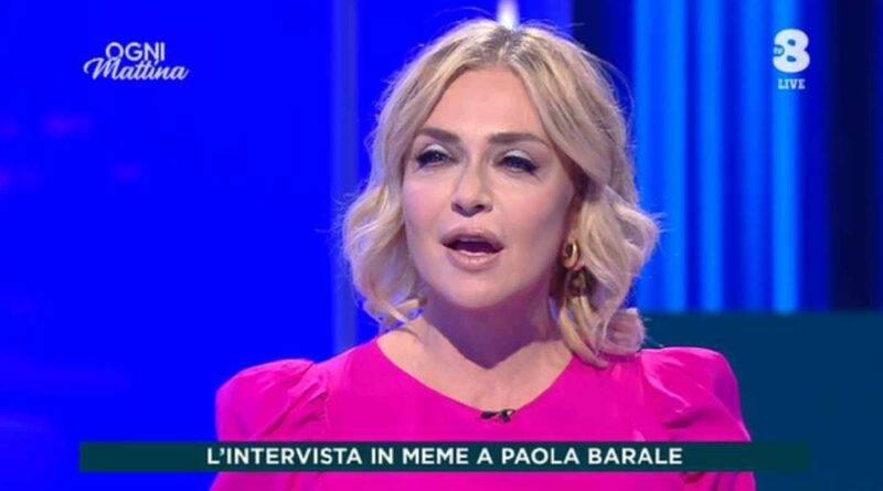 Paola Barale su Tv8
