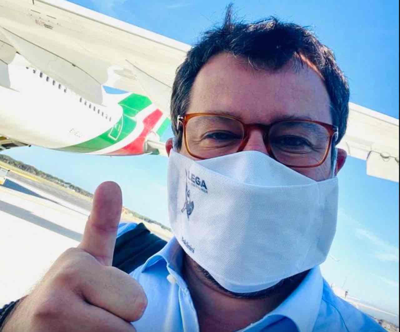 Matteo Salvini mascherina