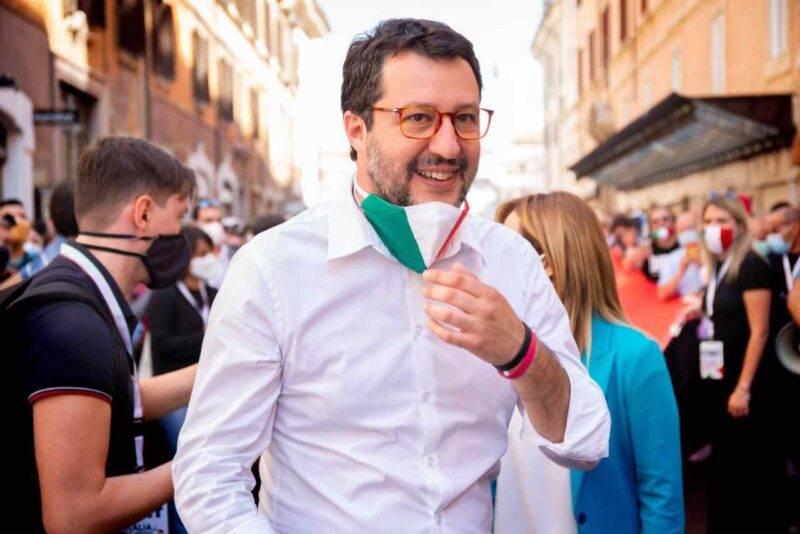 Matteo Salvini vuole tornare in piazza contro il Governo Conte (Getty Images)