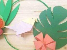 ghirlanda tropicale origami