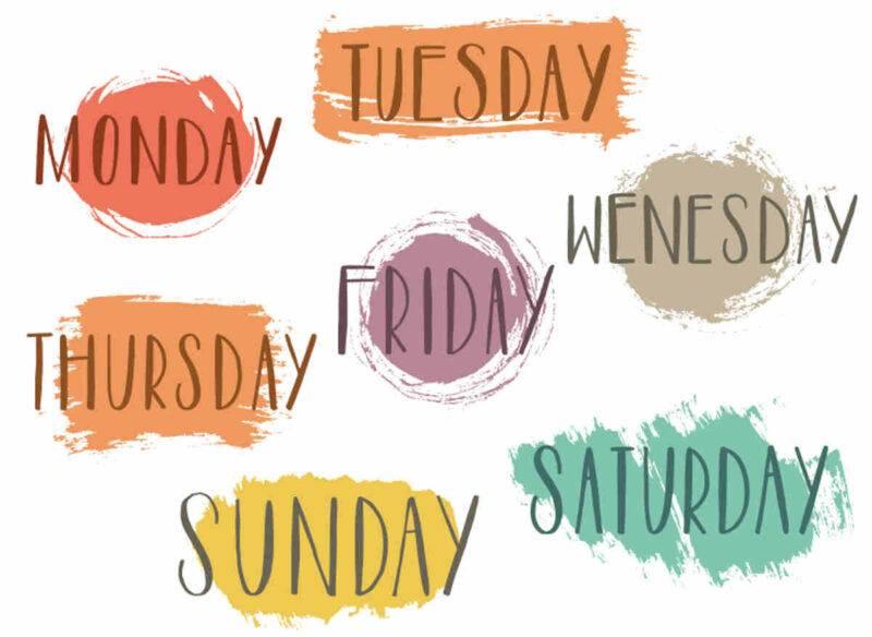 giorni della settimana