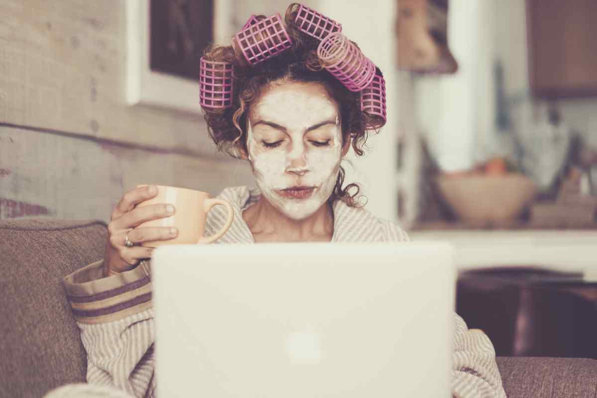 Botox naturale con la maschera all'amido di mais