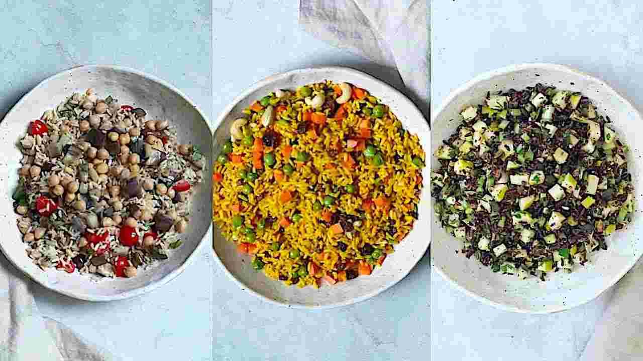 Ricette vegane 3 insalate di riso leggere facili e veloci