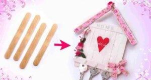 Porta chiavi fai da te con riciclo creativo