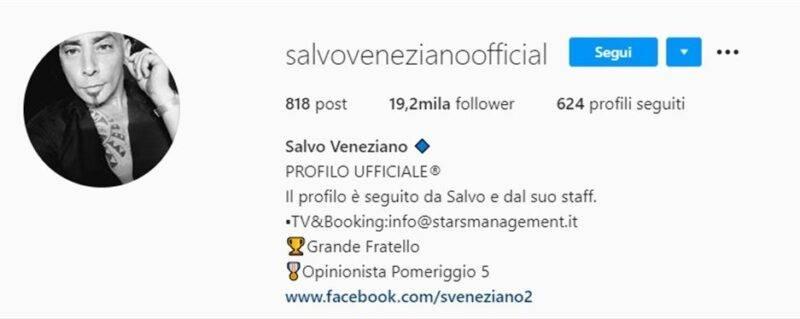 salvo veneziano profilo instagram