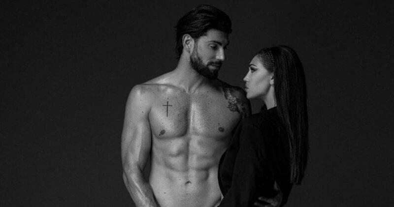 Cecilia Rodriguez e Ignazio Moser in bianco e nero