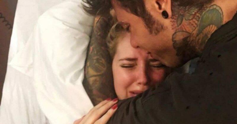 Chiara Ferragni e Fedez piangono