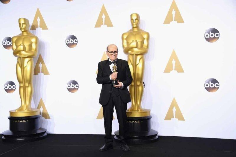 "Ennio Morricone, Oscar per ""The Hateful Eight"" (Getty Images)"