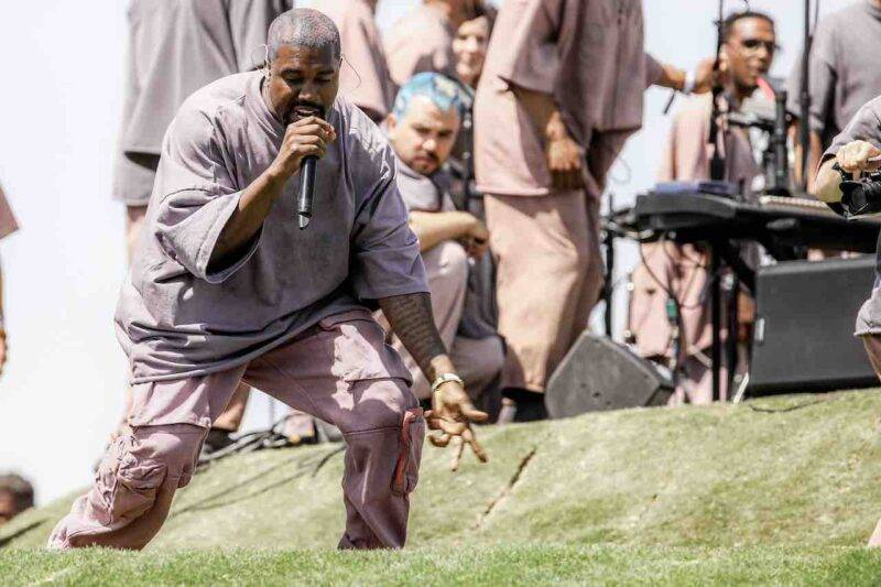 Kanye West, la sua prima uscita pubblica nei panni di politico (Getty Images)